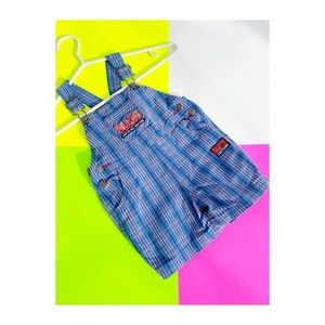 Kids Play Bugs Critters Plaid Jumper Overalls
